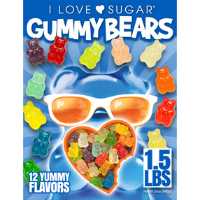 Giant of 12 Flavor Gummy Bears