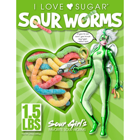 Sour's Girl's Favorite Sour Worms