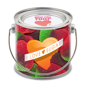 Gummy Watermelon Hearts