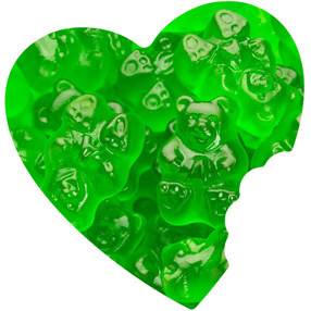 Green Apple Gummy Bears Bulk