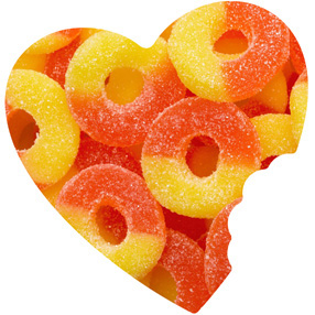 Peach Gummy Rings