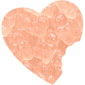 Pink Grapefruit Gummy Bears Bulk