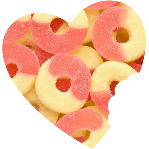 Strawberry Banana Gummy Rings