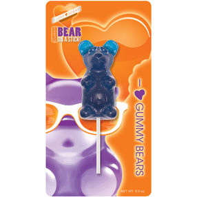 Giant Blue Raspberry Gummy Bear on a Stick