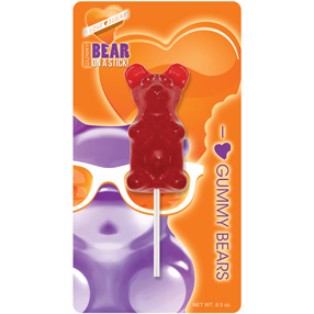 Giant Cherry Gummy Bear on a Stick